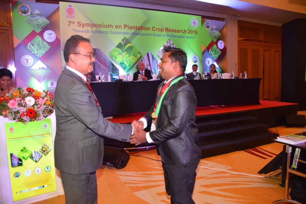 Best Paper Award – Seventh Symposium on Plantation Crop Research -2019